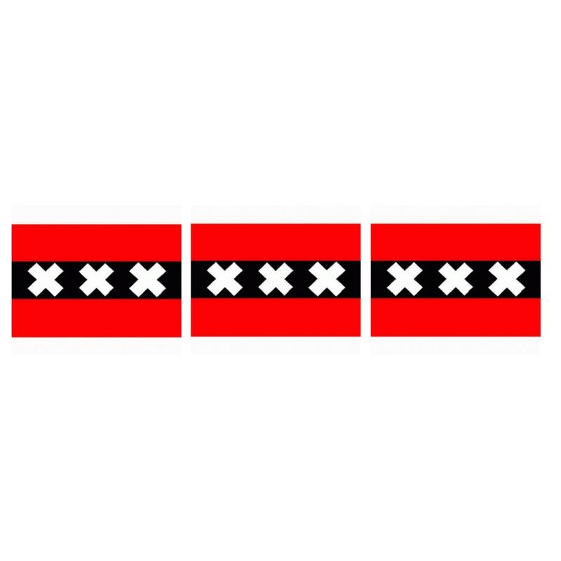 3x amsterdamse vlaggen