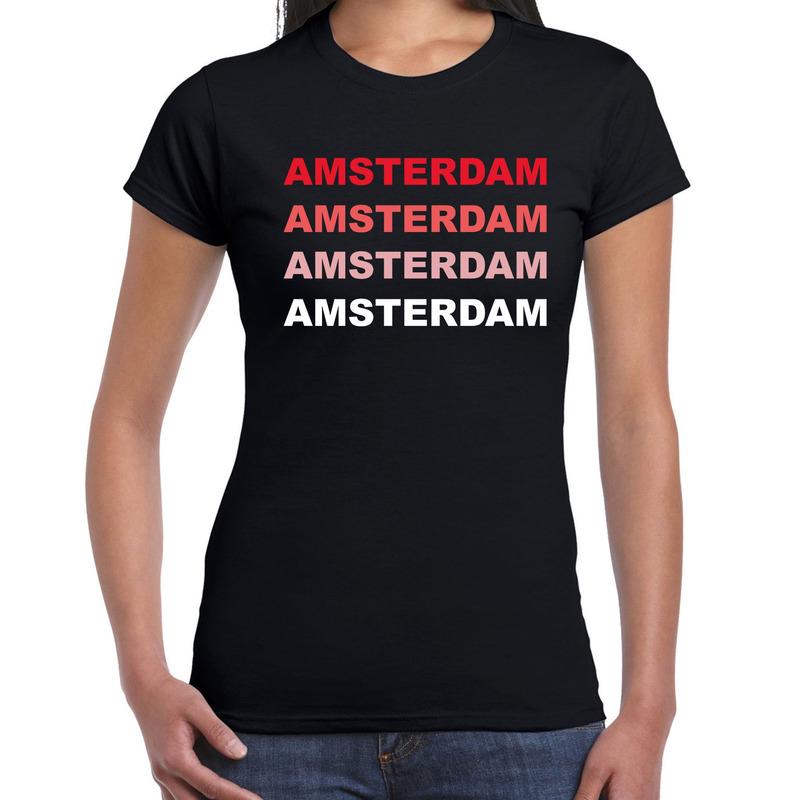 Amsterdam nl steden shirt zwart voor dames