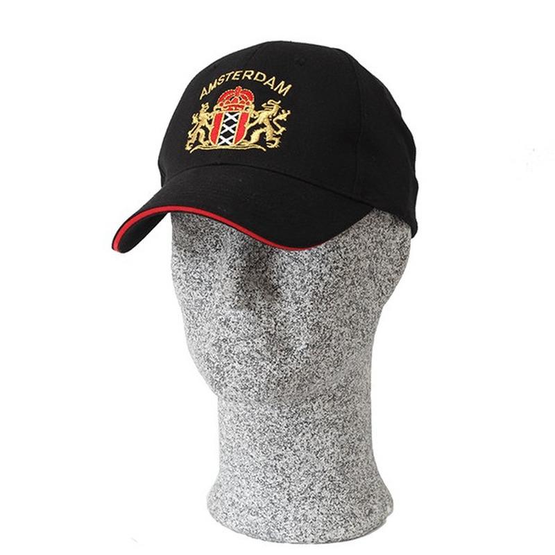 Amsterdam pet / cap zwart voor volwassenen