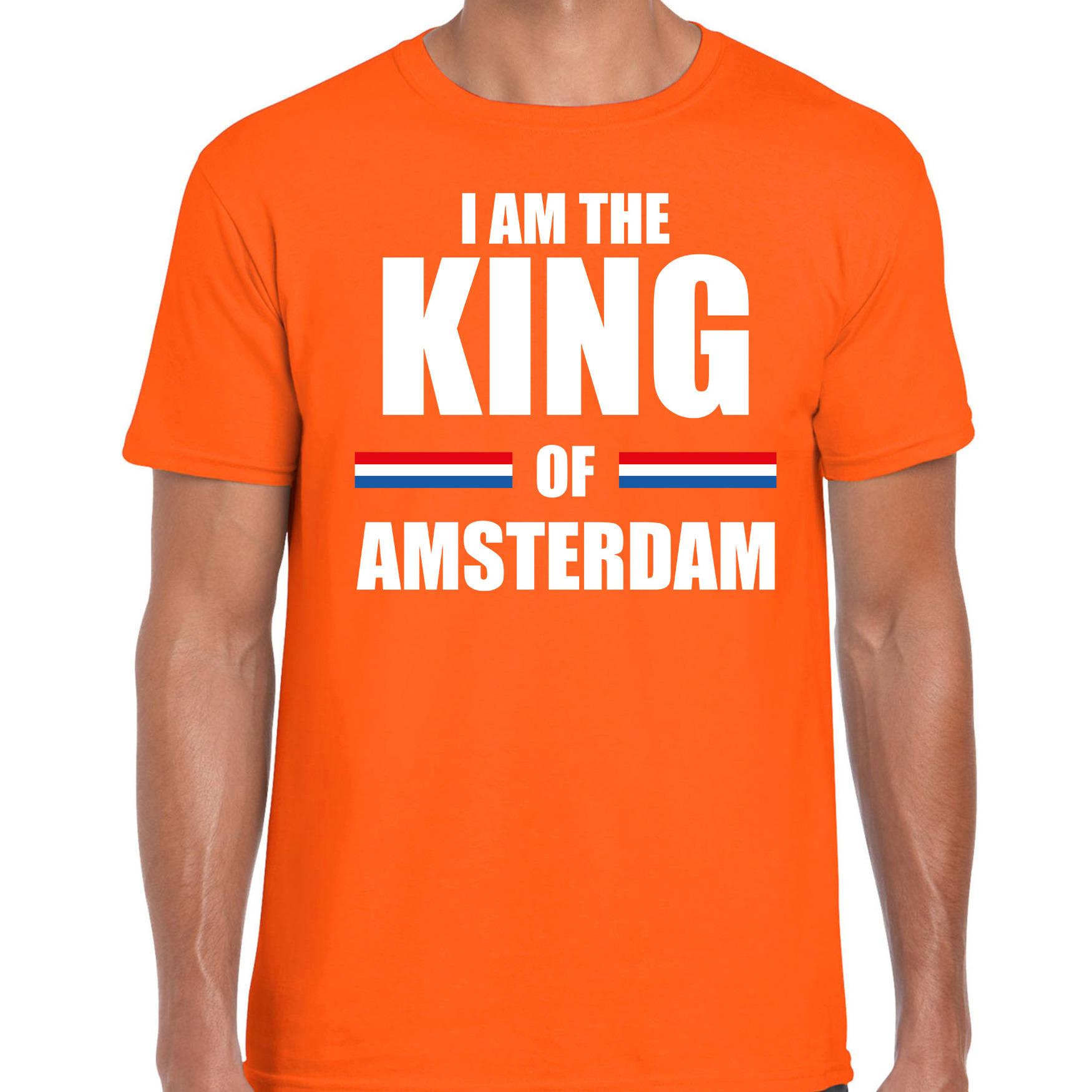 Oranje i am the king of amsterdam shirt koningsdag t shirt voor heren