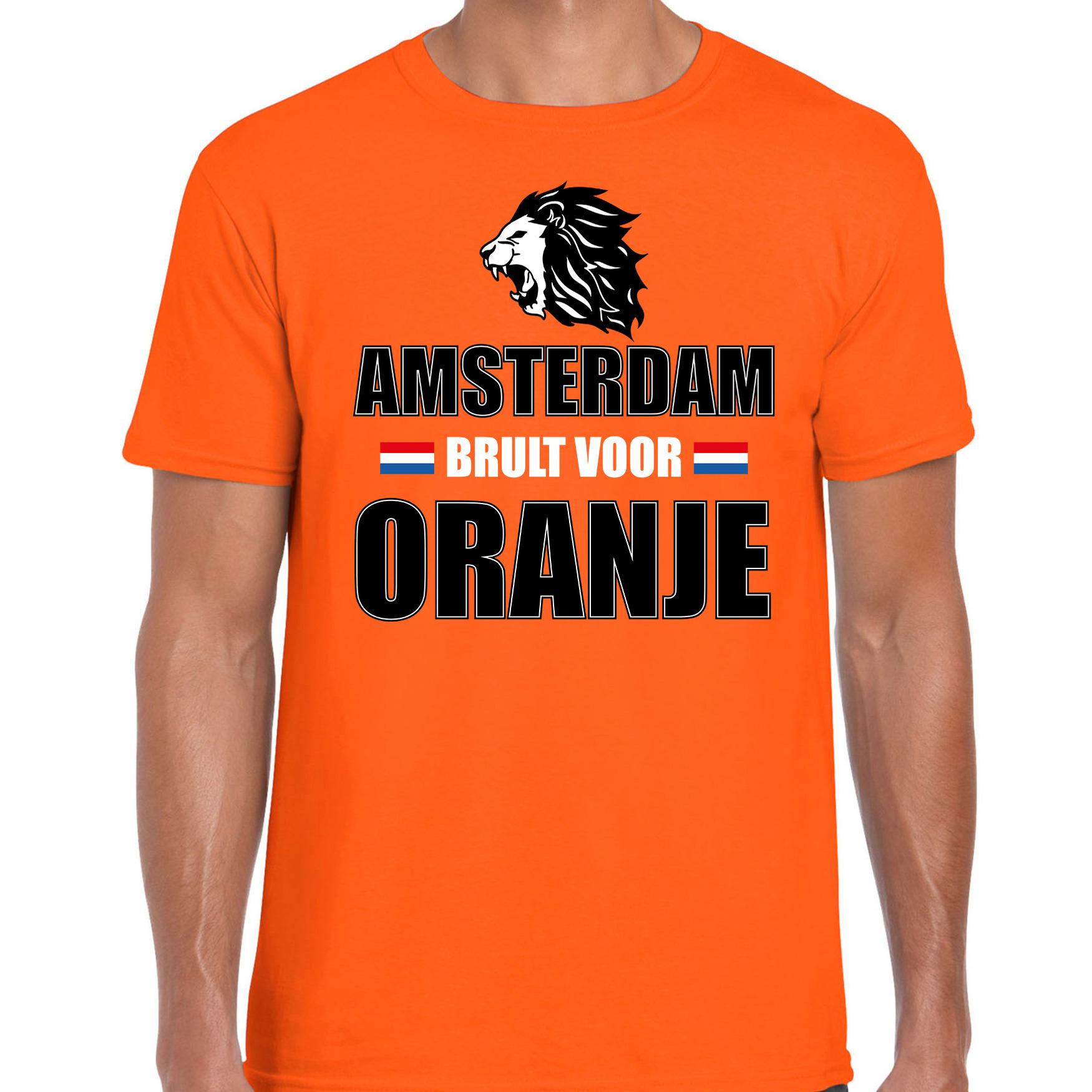 Oranje ek wk fan shirt kleding amsterdam brult voor oranje voor heren